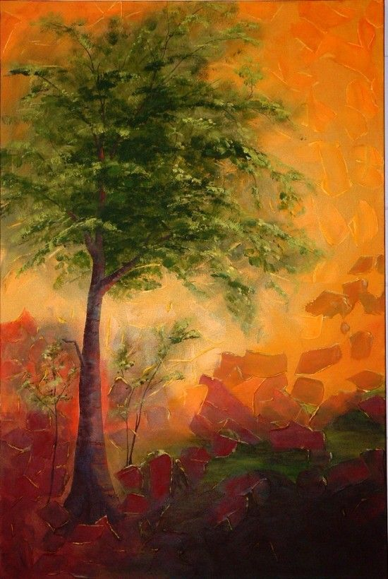 Vibrant beauty of creation in landscapes and abstracts paintings by Canadian artist Linda Lennea