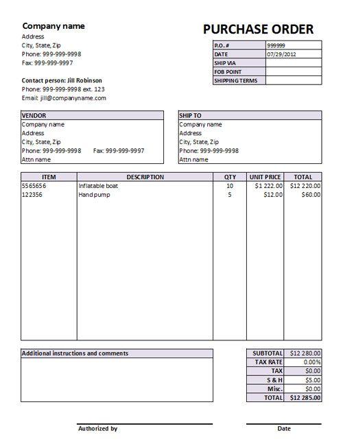 40 best Order form images on Pinterest Order form - purchase order format free download