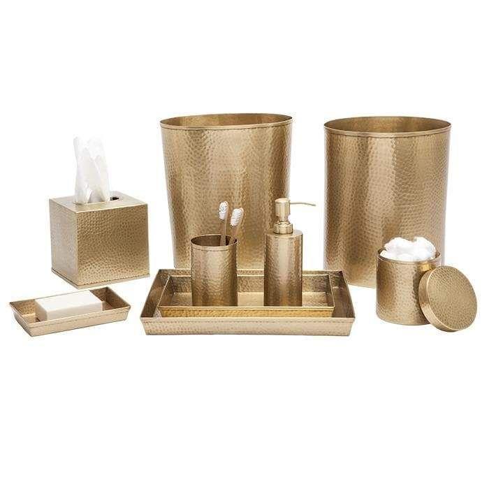 Verum Antique Brass Hammered Metal Bathroom Accessories Brass Bathroom Accessories Bathroom Accessories Hammered Metal