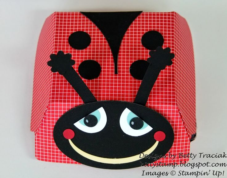 Kitty Stamp: Hamburger Box Ladybug