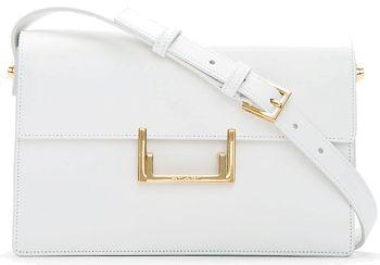 All White Handbags, Pure & Bright - Saint Laurent Medium White Leather Lulu Shoulder Bag