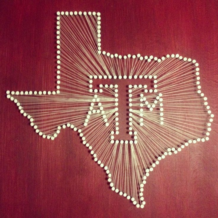 Texas A Amp M Wood Nail And String Art Texas A String Nail