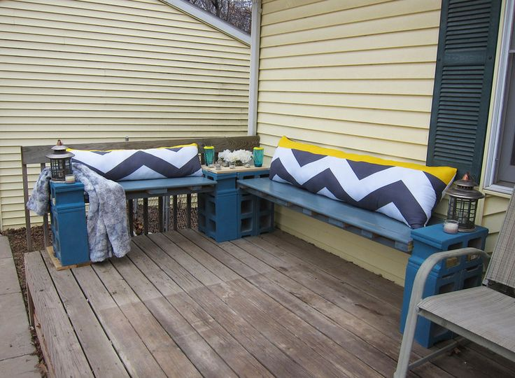 Cinder block seating garden diy pinterest cinder for Cinder block seating area