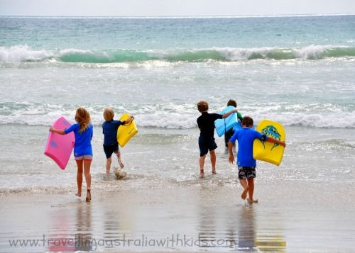Robe's Long Beach South Australia is perfect for boogie boarding with friends.