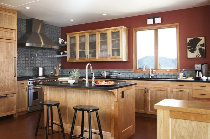 Colors with a statement dream kitchens pinterest for 1950s style kitchen cabinets