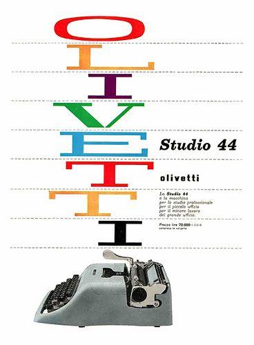 Olivetti Studio 44 Poster by ninonbooks, via Flickr