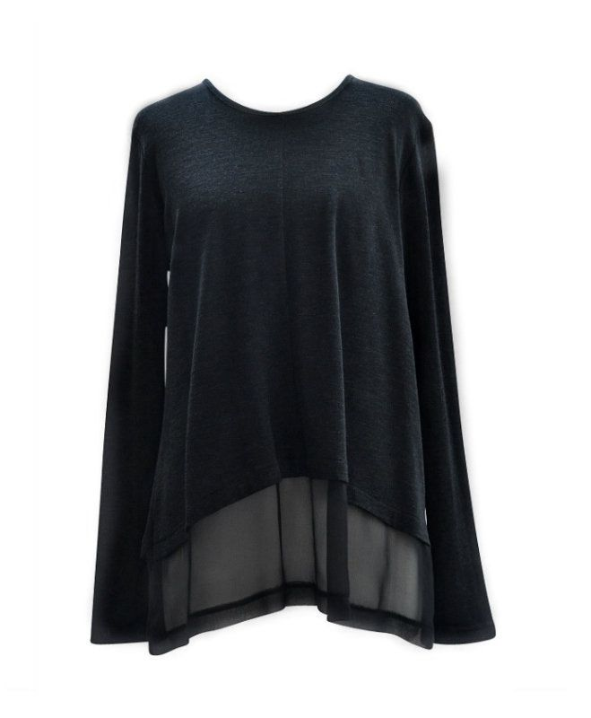 Relaxed Georgette Top Black | Women's Fashion | Dresses, Tops and more | Et La Mer