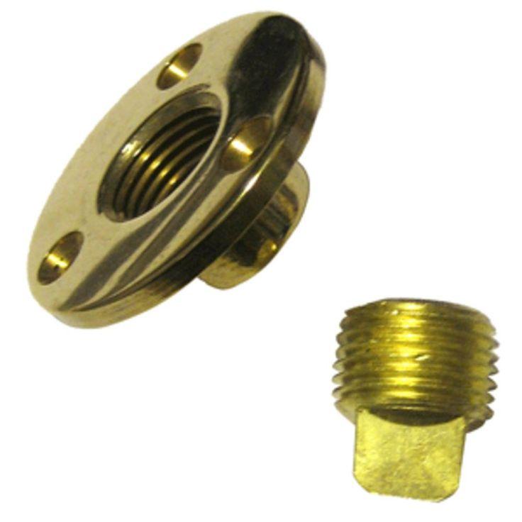 Perko Garboard Drain & Drain Plug Assy Cast Bronze/Brass MADE IN THE USA