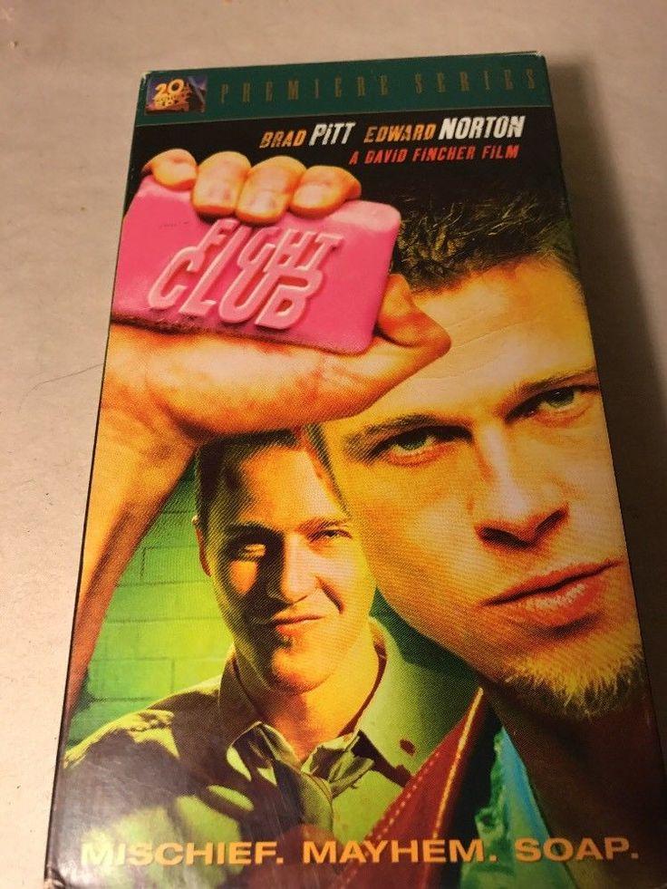 Fight Club (VHS, 1999) Brad Pitt Edward Norton