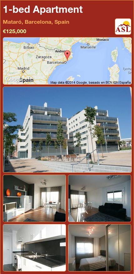 1-bed Apartment in Mataró, Barcelona, Spain ►€125,000 #PropertyForSaleInSpain