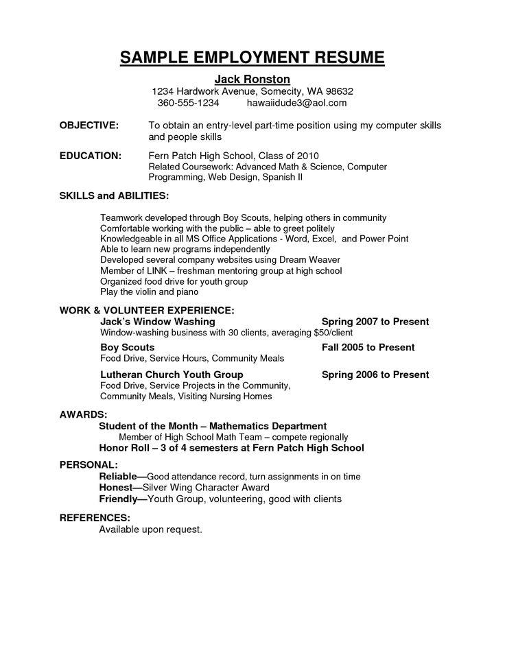 Más de 25 ideas únicas sobre Resume examples for jobs en Pinterest - resumedoc