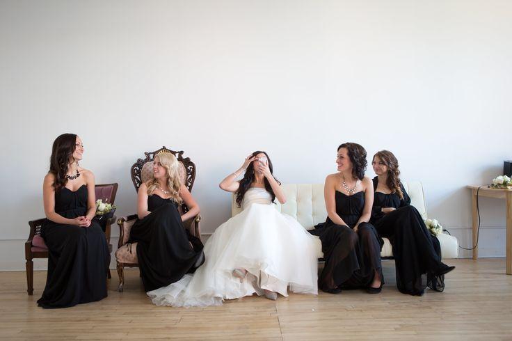 Bride: David's Bridal || Bridesmaids: Dessy After Six || Hair: @stephdrempel || Flowers: @facheflorals || Photo: @amarie_photo ||