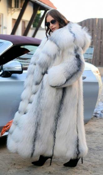 7e5127d53a6 fox furs - amazing real arctic fox long fur coat with beautiful big hood by  lafuria