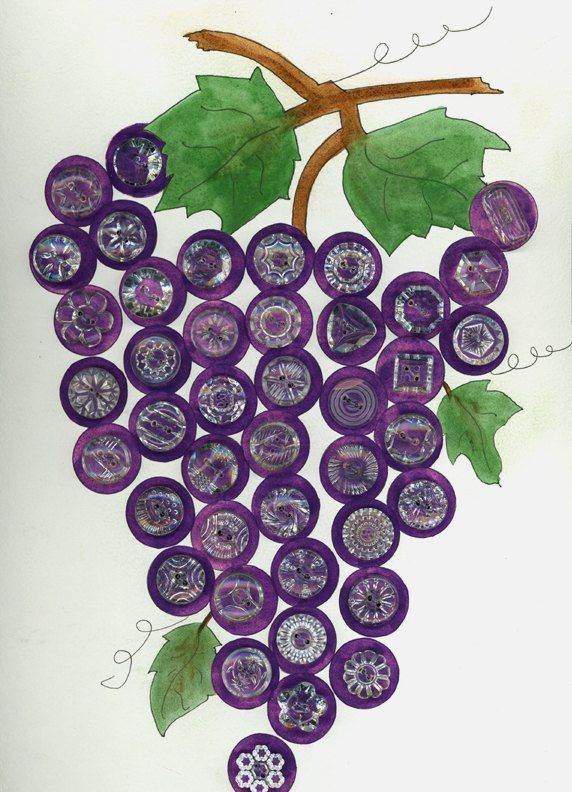 "~ ""grape"" glass buttons ~ ~(ok! now I'm on a purple button hunt ~ lucky for me,  the hunt, is in my own button collection! ~ grinning like a cheshire cat right now!)~"