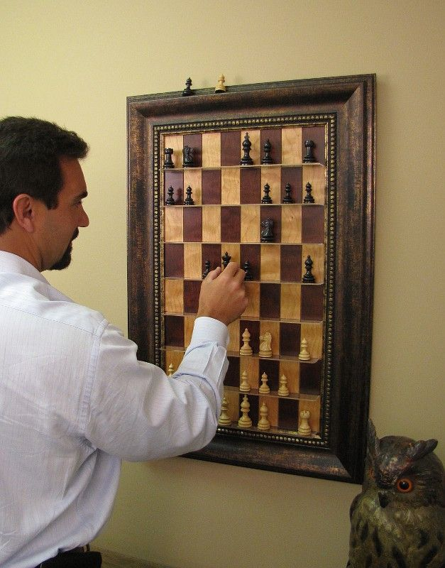 Vertical Chess Boards Designed To Play A Casual Game Of Chess As You Pass  By.