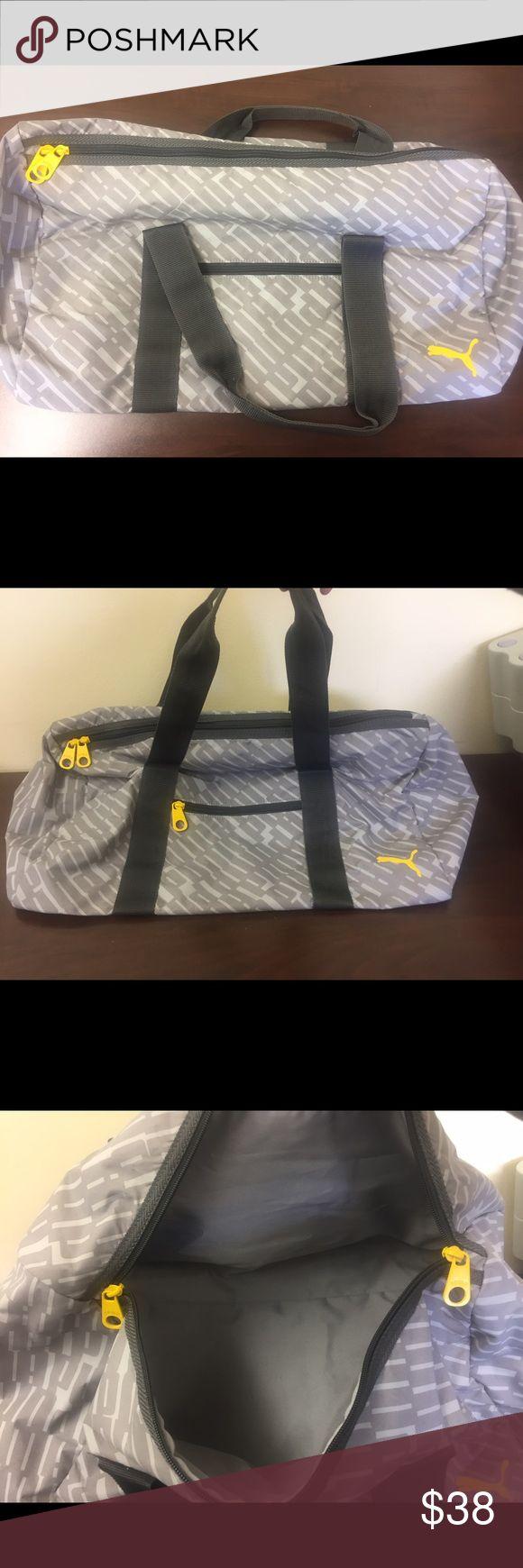 Puma Sports Duffle Bag Gray. Like new, never used. Puma Bags Shoulder Bags