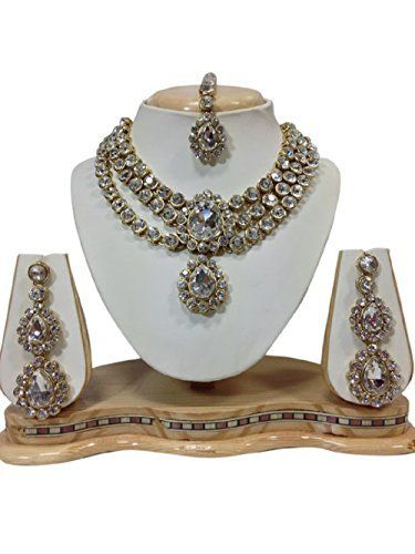 Ddivaa Latest Indian Bollywood Gold Plated Party Wear Kundan Jewellery Necklace Set Ddivaa, http://www.amazon.com/dp/B06Y5LVL7K/ref=cm_sw_r_pi_dp_x_8Omuzb68ERW9Q