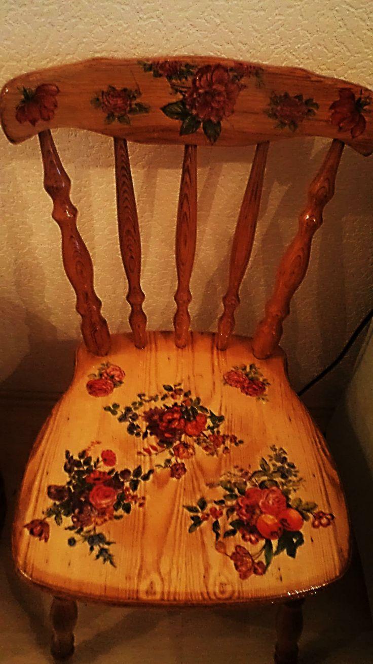 декупаж-стул