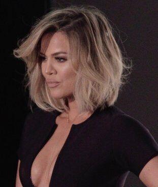 Khloe kardashian ombre hair color 2018