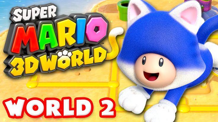 Super Mario 3D World - World 2 100% (Nintendo Wii U Gameplay Walkthrough...