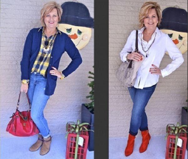 Стильное сочетание одежды с джинсам