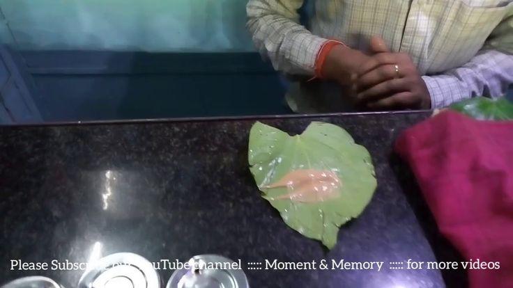 Betel Leaf with Areca nut ( supari ) Meetha Paan making process