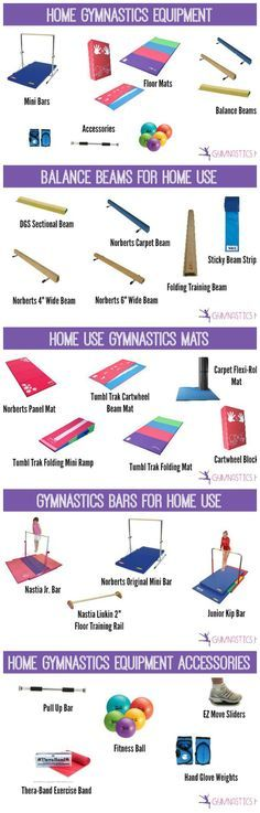 Home Gymnastics Equipment: The best bars, mats and beams for home use.