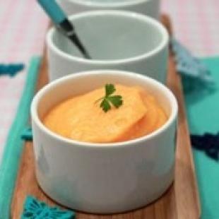 Purée de riz et carotte