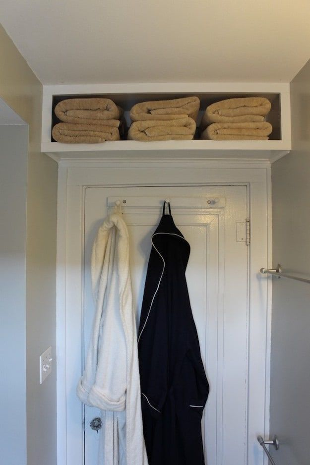 Shelf Above Door | DIYs for Small Spaces | Ideas To Maximize Your Place