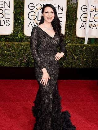Laura Prepon attends the 72nd Annual Golden Globe Awards.