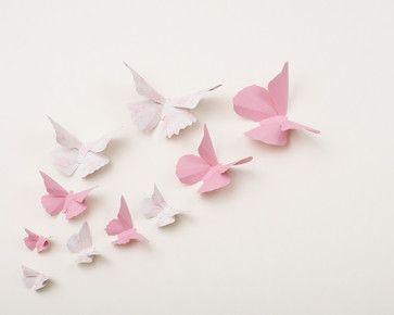 3D Butterfly Wall Art eclectic nursery decor