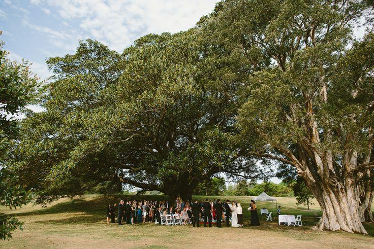 Centennial Park Wedding Sydney | Outdoor wedding ceremony Image: Cavanagh Photography http://cavanaghphotography.com.au