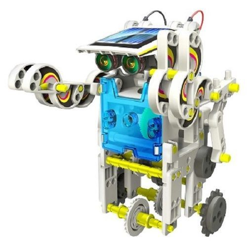 Electronic Robot Kit Learning Solar Green Toy Make 14 Robots Sun Power Science #OWI