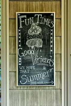 {at home} with Bobi: Summer Chalkboard Ideas