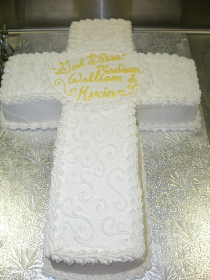 Cross Cake- perfect for a baptism
