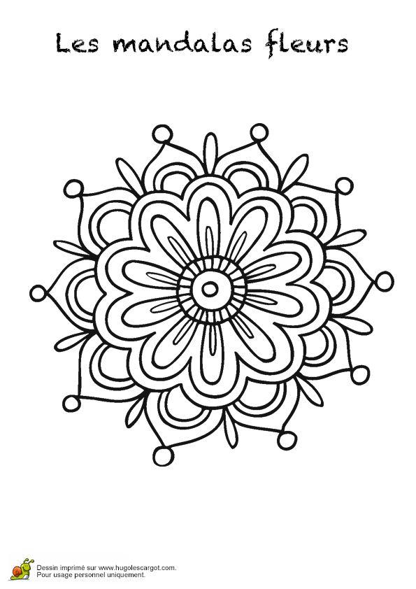 Coloriage les mandalas fleurs sur hugo 02 sur black and - Coloriage fleur 8 petales ...