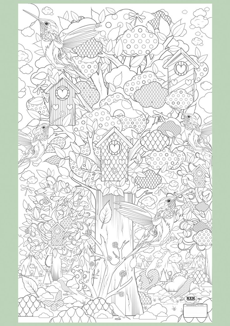 Supersized Colouring Picture: In the Forest. Because sometimes even 'adults' need time out colouring