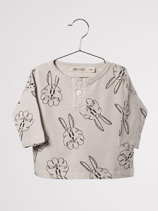 Bobo Choses AW16 Baby Buttons Bunnies AO T-Shirt - at www.scandimini.co.uk