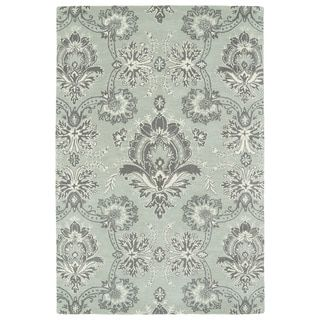 Exceptional Hand Tufted Seldon Mint Damask Rug (8u00270 X 10u00270) By Bombay Home