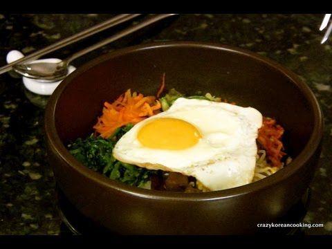How to make Dolsot Bibimbap (Authentic Bibimbap recipe), Beef Bibimbob with vegetarian option  Shop Korean Ingredients at www.crazykoreanshopping.com  #koreaningredient #koreancooking #koreanfood