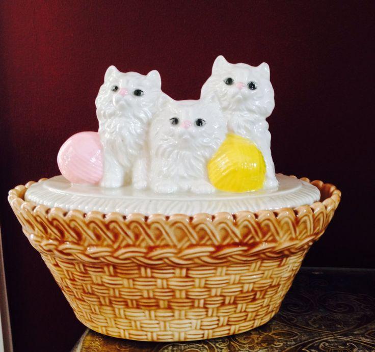 Три маленькие персидские котята Капельное Керамика на TheFlyingHostess