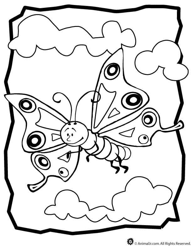 b for butterfly coloring pages - photo #9