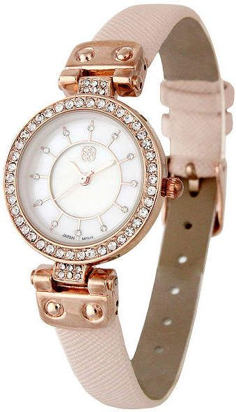 2577da99195a DAISY FUENTES Daisy Fuentes Womens Pink Strap Watch-Df102rglp ...