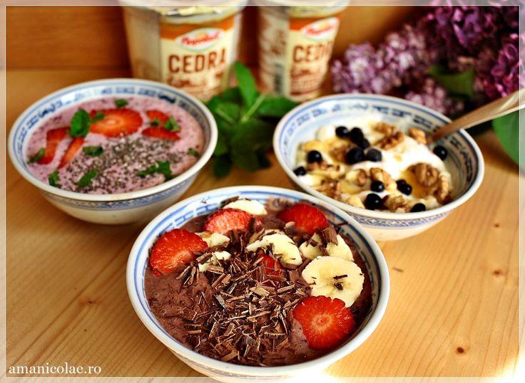 3 idei de gustari delicioase cu iaurt
