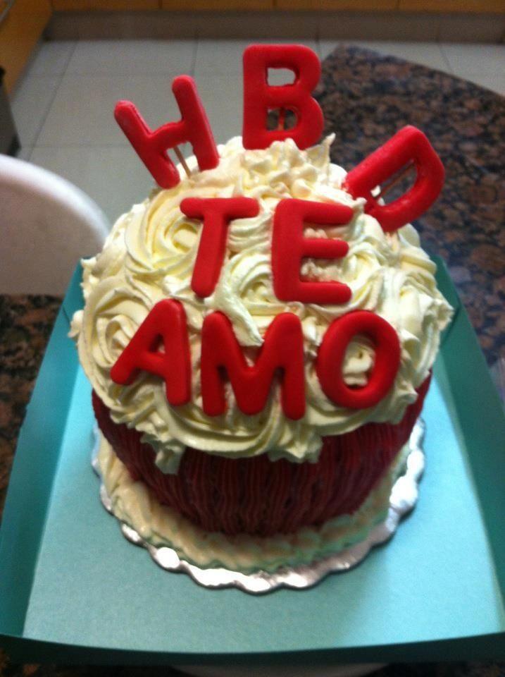 Cupcakes gigante te amo