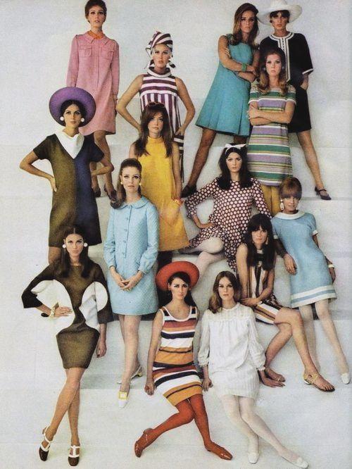 Короткие платья 60-х годов