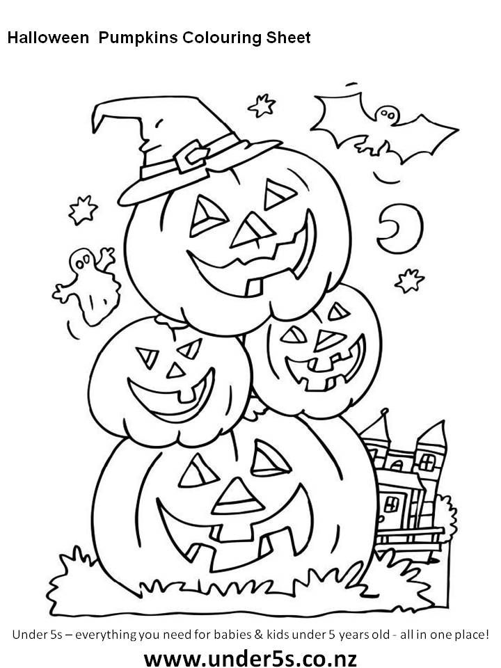 Colouring Sheet Halloween : 19 best kids activity sheets images on pinterest