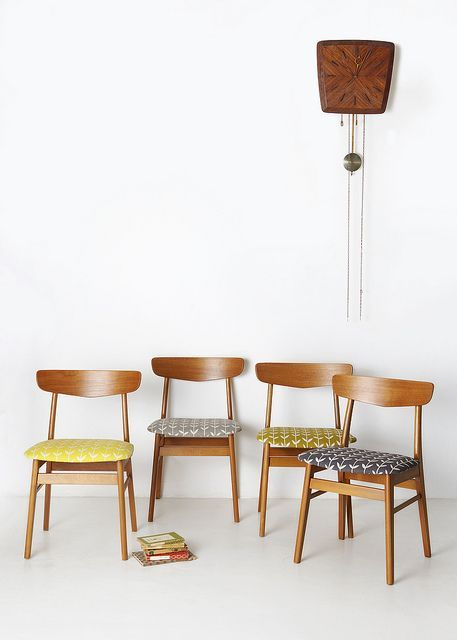 Reupholstering mid-century modern chairs | Honey of California ZINE