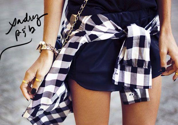 Moda: xadrez preto e branco