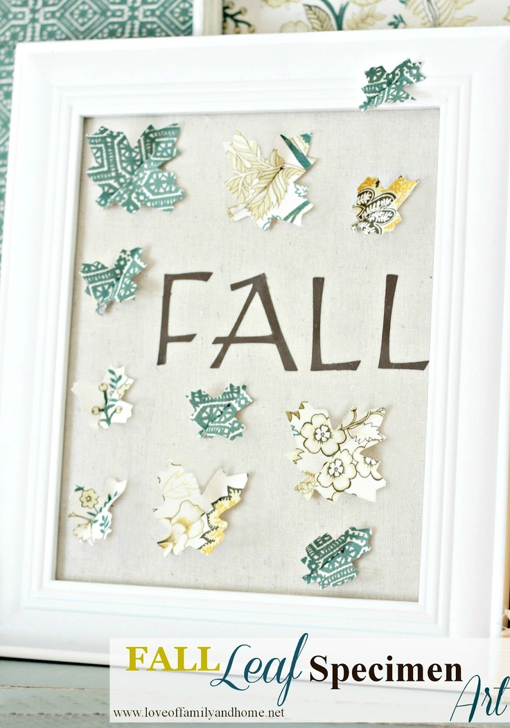 Fall Leaf Specimen ArtSpecimen Art, Fall Leaves, Fall Crafts, Leaf Specimen, Crafty Crafts, Fall Leaf, Crafts Idease Diy, Art Tutorials, Artworks Projects